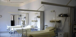 Hospital Beds in an Empty Room
